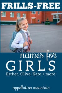 frills free names for girls