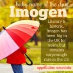 Imogen: Baby Name of the Day