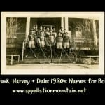 Frank, Harvey, and Dale: 1930s Names for Boys