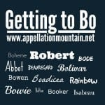 Isabeau, Bowen, Boheme: Getting to Bo and Beau