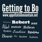 Isabeau, Bowen, Boheme: Getting to Bo and Beau