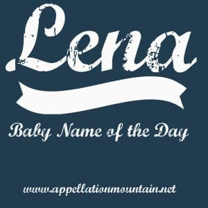 Lena: Baby Name of the Day