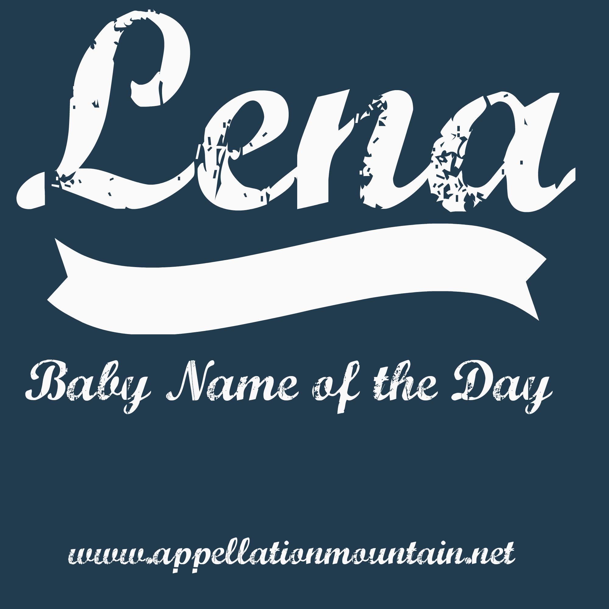 Lena: isim ve karakterin anlamı