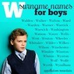 W Surname Names: Walker, Walton, Winchester