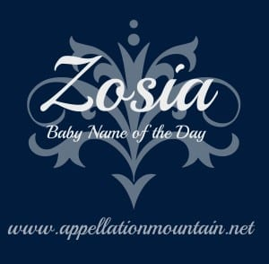 Zosia: Baby Name of the Day