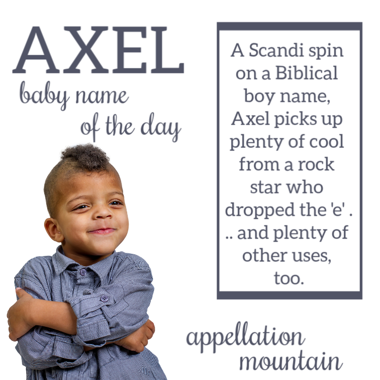 Axel: Baby Name of the Day - Appellation Mountain