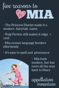 Mia: Baby Name of the Day