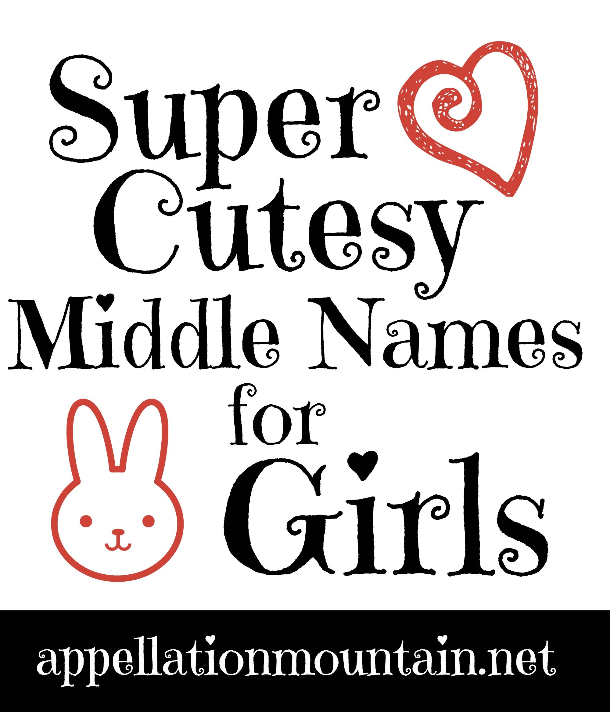 poppet boo and sweetheart cutesy middle names for girls