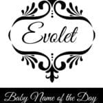 Evolet: Baby Name of the Day