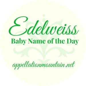 Edelweiss: Baby Name of the Day