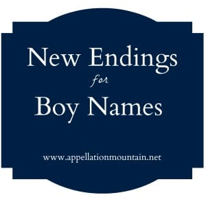 New Endings for Boy Names