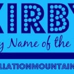 Kirby: Baby Name of the Day