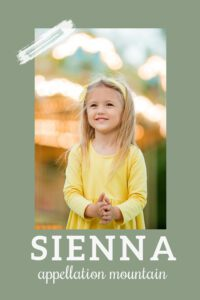 baby name Sienna