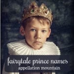 What to Name a Fairytale Prince