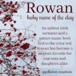 Rowan: Baby Name of the Day