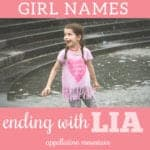 Girl Names Ending in LIA: Amelia, Cecilia, Thalia