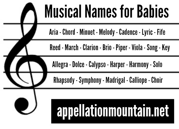 Aria And Lyric Musical Baby Names Appellation Mountain