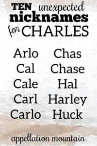 Nicknames for Charles