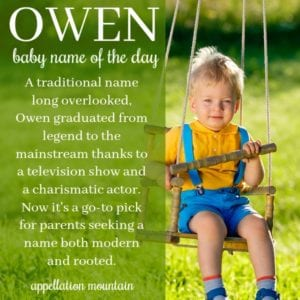 Owen: Baby Name of the Day