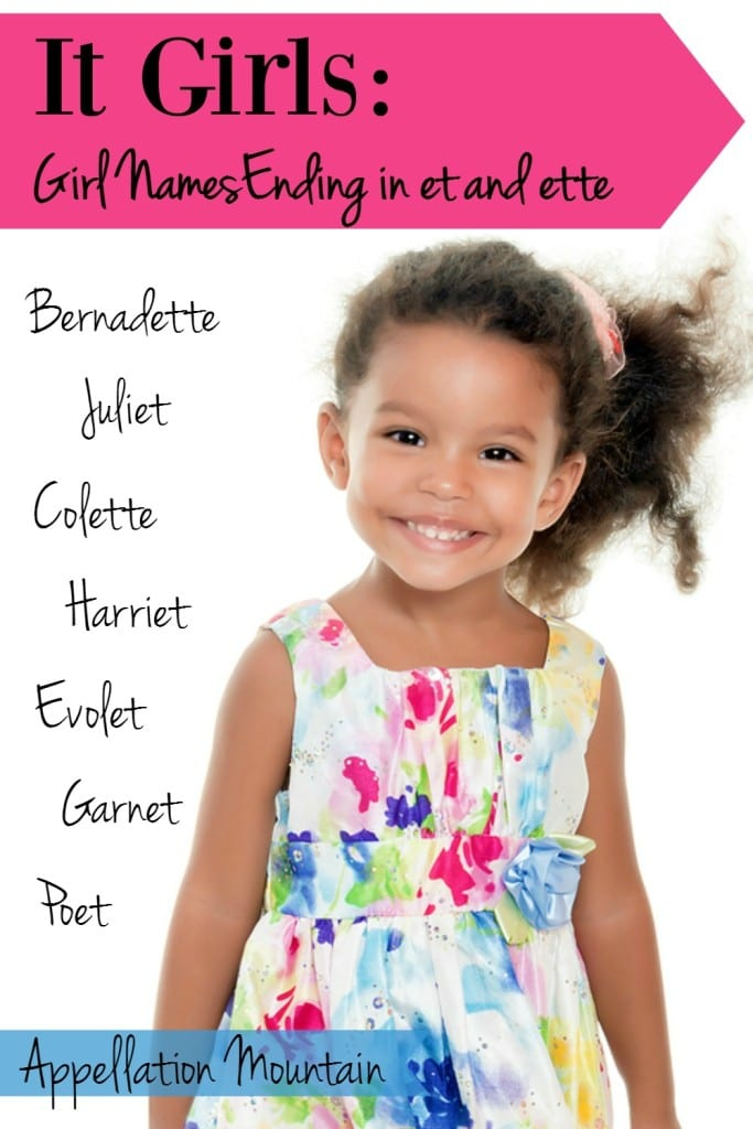 it girls baby girl names that end in et and ette