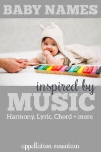 baby names inspired by music
