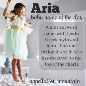 Aria: Baby Name of the Day