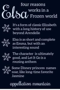 baby name Elsa