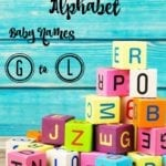 Out-There Alphabet: Baby Names G to L