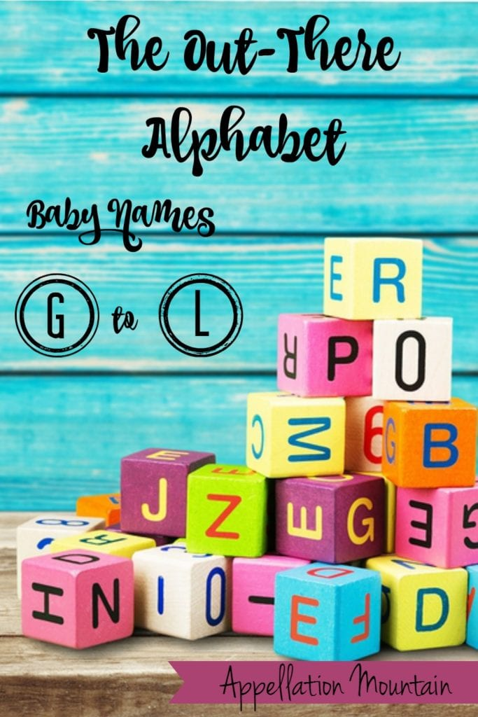 out there alphabet baby names G to L