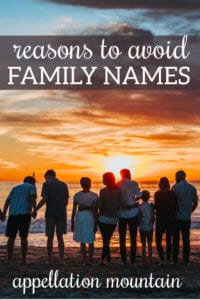 avoid family names