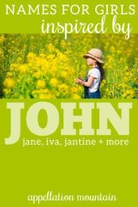 girl names inspired by John