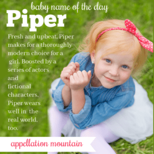 Piper: Baby Name of the Day