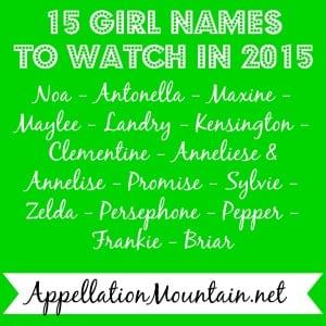 15 Girl Names