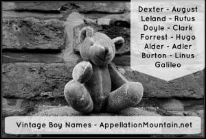 Vintage Boy Names