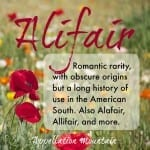 Alifair: Baby Name of the Day