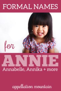 formal names for Annie