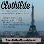 Clothilde: Baby Name of the Day