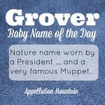 Grover: Baby Name of the Day