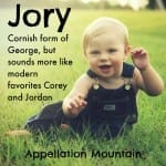 Jory: Baby Name of the Day