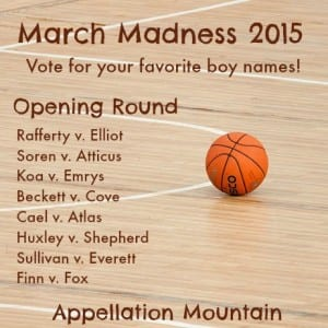 March Madness 2015 boy names