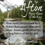 Afton: Baby Name of the Day
