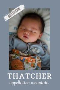 baby name Thatcher
