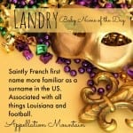 Landry: Baby Name of the Day