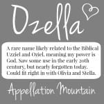 Ozella: Baby Name of the Day