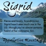 Sigrid: Baby Name of the Day
