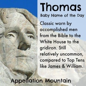 Thomas: Baby Name of the Day