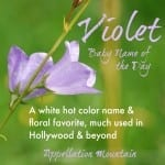 Violet: Baby Name of the Day