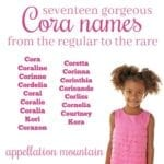 Cora Names: Coralie, Cordelia, and More