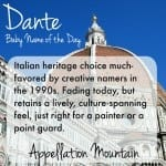 Dante: Baby Name of the Day