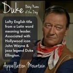 Duke: Baby Name of the Day